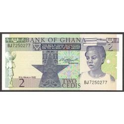 Ghana 2 Cedis. 1982. SC. PIK. 18 d