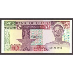 Ghana 10 Cedis. 1982. SC. PIK. 20 d