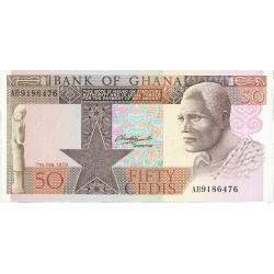 Ghana 50 Cedis. 1980. 02-07. SC. PIK. 22