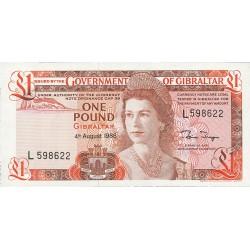 Gibraltar 1 Libra/Pound. 1988. 04-08. SC. PIK. 20 c