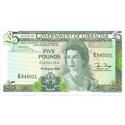 Gibraltar 5 Libra/Pound. 1988. 04-08. SC. PIK. 21 b