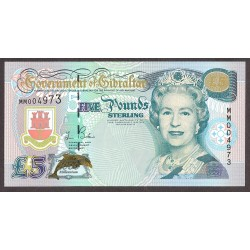 Gibraltar 5 Libra/Pound. 2000. SC. PIK. 29