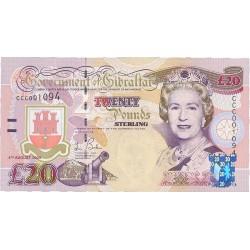 Gibraltar 20 Libra/Pound. 2004. SC. PIK. 31 a