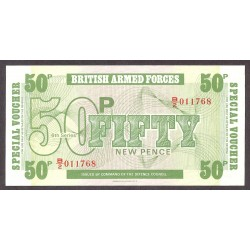 Gran Bretaña 50 New Pence. 1972. SC. (Britis Armed Forces). PIK. M46