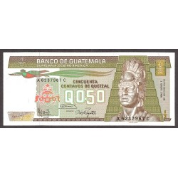 Guatemala ½ Quetzal. 1986. SC. PIK. 65