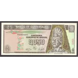 Guatemala ½ Quetzal. 1989. SC. PIK. 72