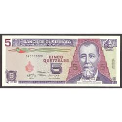 Guatemala 5 Quetzal. 1991. SC. PIK. 74