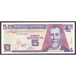 Guatemala 5 Quetzal. 1995. SC. PIK. 88