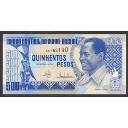 Guinea Bisau-(Portuguesa) 500 Pesos. 1990. SC. PIK. 12