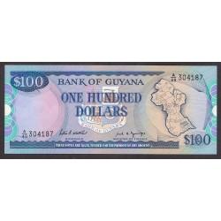 Guyana 100 Dolar. 1989. SC. PIK. 28