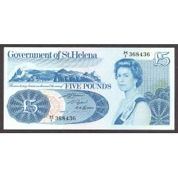Helena y Ascension.-St. 5 Libra/Pound. 1981. SC. (Ley.rev.-ANGLICAE). PIK. 7 b