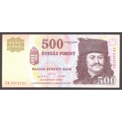 Hungria 500 Forint. 2001. SC. PIK. 188