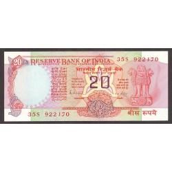 India.-Rep. 20 Rupia. 1985. SC. PIK. 82 h