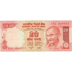 India.-Rep. 20 Rupia. 2002. SC. PIK. 89 A.a