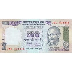 India.-Rep. 100 Rupia. 1996. (s/f). SC. PIK. 91 e