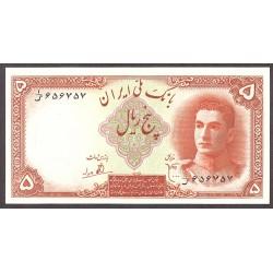 Iran 5 Rial. 1944. SC. PIK. 39