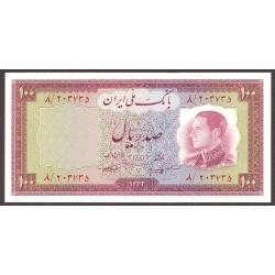 Iran 100 Rial. 1954. SC. PIK. 67