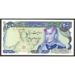 Iran 200 Rial. 1974. SC. (Busto del Sha tachado). PIK. 103 d