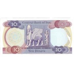 Iraq 10 Dinar. 1973. (s/f). SC. PIK. 65