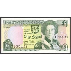 Jersey 1 Libra/Pound. 1989. SC. PIK. 15 a