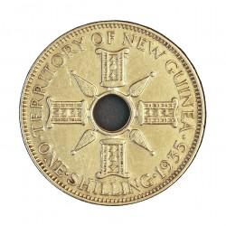 Nueva Guinea 1 Schilling. 1935. EBC-. 5,38gr. AG. Ley:0,925. KM. 5. Ø23mm