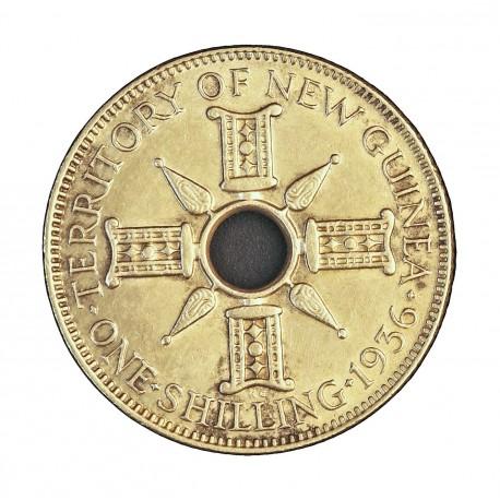 Nueva Guinea 1 Schilling. 1936. SC/SC-. (Patina). 5,38gr. AG. Ley:0,925. KM. 5. Ø23mm