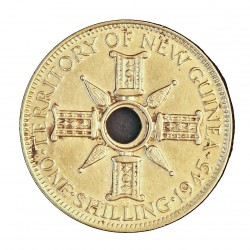 Nueva Guinea 1 Schilling. 1945. EBC+/SC-. 5,38gr. AG. Ley:0,925. KM. 8. Ø23mm
