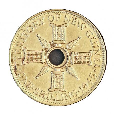 Nueva Guinea 1 Schilling. 1937. EBC+/SC-. 5,38gr. AG. Ley:0,925. KM. 8. Ø23mm