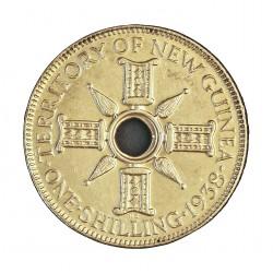 Nueva Guinea 1 Schilling. 1938. SC/SC-. 5,38gr. AG. Ley:0,925. KM. 8. Ø23mm