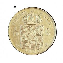 India Holandesa 0,1 Gulden. 1908. EBC+/EBC. 1,25gr. AG. Ley:0,720. KM. 309. Ø15mm