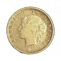 Liberia 10 Cent. 1906. Heaton. MBC-. 2,32gr. AG. Ley:0,925. KM. 7. Ø18mm