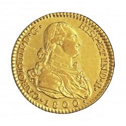 España 2 Escudos. 1800. (M)-Madrid. MF. MBC+. (Resos de suntono). 6,77gr. AU. Ley:0,875. CT. 278 - KM. 435.1. Ø22mm