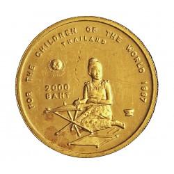 Thailandia 1 Baht. 1997. (BE2540). PRF. (Marquitas por roce). 6,22gr. AU. Ley:0,999. KM. 380. Ø22mm