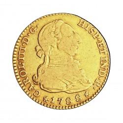 España 2 Escudos. 1788. (M)-Madrid. M. MBC-. 6,767gr. AU. Ley:0,875. AUC. 1578 - KM. 417.1a. Ø22mm