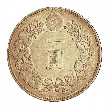 Japon 1 Yen. 1889. (AÑO 22). EBC+/SC-. (Leves marquitas). 26,96gr. AG. Ley:0,900. KM. A25.3. Ø38mm