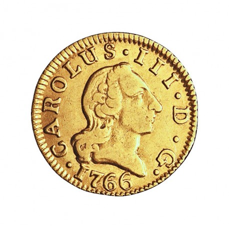 España ½ Escudos. 1766. (M)-Madrid. PJ. MBC-. 1,69gr. AU. Ley:0,917. AC. 1250 - KM. 389.1. Ø15mm