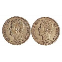 España 5 Ptas. 1871. *18*75. Madrid. DEM. BC/BC+. 25gr. AG. Ley:0,900. (Imagen Tipo). AUC. 7 - KM. 666. Ø37mm