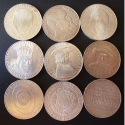 Austria-(y Estados) 50 Shilling. 1959. 1974. SC-. 380gr. AG. Ley:0,900. (Años 1959, 60 y 1963 a 1974). Ø34mm