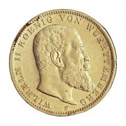 Alemania Estados 3 Marcos. 1910. F-(Stuttgart). MBC+. (Gpcto.cto.). 16,667gr. AG. Ley:0,900. KM. 635. Ø33mm