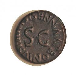 Roma Imperio OCTAVIO AUGUSTO-(-27/14) Cuadrante. -27. 14. Año 5. EBC+. 3,28gr. AE. Ley:0,000. .Augusto y Julio Cesar. CAY. 17