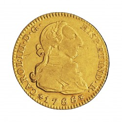 España 2 Escudos. 1788. (M)-Madrid. M. MBC-. 6,69gr. AU. Ley:0,875. AC. 1578 - KM. 417.1a. Ø22mm