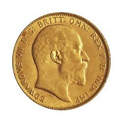 Gran Bretaña 1 Libra/Pound. 1904. Londres. EBC-. .Marquitas. 7,98gr. AU. Ley:0,917. .Imagen tipo). KM. 805. Ø22mm